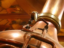 Still. Cooper alambic still distill  alcohol Royalty Free Stock Image