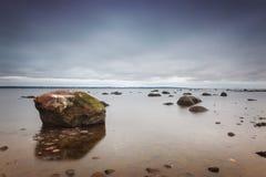 Still autumn beach Stock Image