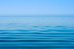 Still Calm Sea Or Ocean Water Surface And Horizon Stock Photography