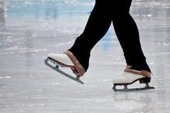 Still capture of recreational figure skater ice skates Royalty Free Stock Photo