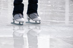 Still capture of recreational figure skates Royalty Free Stock Photography