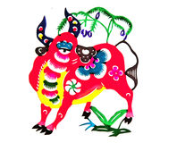 Still categories: Chinese Zodiac paper-cut Royalty Free Stock Photo