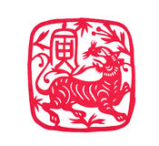Still categories: Chinese Zodiac paper-cut Royalty Free Stock Photos
