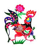 Still categories: Chinese Zodiac paper-cut Stock Image