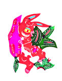 Still categories: Chinese Zodiac paper-cut Royalty Free Stock Image