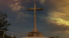 Still a cross before storm stock footage