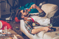 Still got energy to party. Stock Images