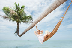 Still in hammock Royalty Free Stock Images