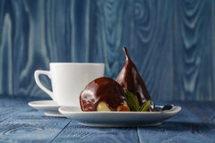 Still image of some chocolate pears Stock Image