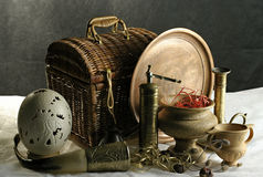 Still-life. On a table there are antiques Royalty Free Stock Photos
