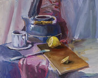 Still life. Gouache painting Royalty Free Stock Photos