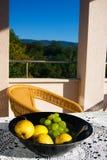 Still life. Morning snack on the verandah Stock Images