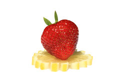 Still Life. Strawberry and lemon - products containing a large quantity of vitamin Stock Photography