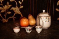 Still life afternoon tea Stock Photos