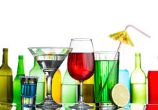 Still-life of alcohol cocktails. And drinks on bar Royalty Free Stock Image