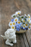 Still life with angel stock photography