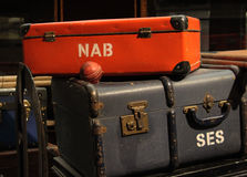 Still Life with Antique Suitcase Royalty Free Stock Photos