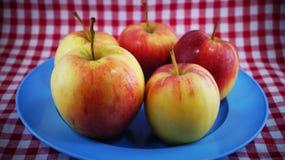 Still life of apple on dish Royalty Free Stock Image