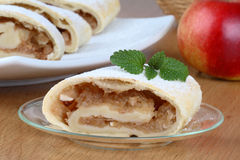 Still life with apple roll. (strudel Royalty Free Stock Images