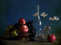 Still life with apples and vine Stock Image