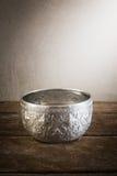 Still life art photography on vintage silver bowl Stock Photography