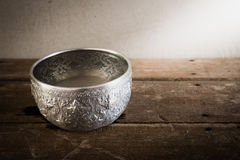Still life art photography on vintage silver bowl Royalty Free Stock Photos