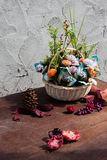Still life with artificial flowers Royalty Free Stock Photography