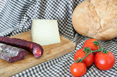 Still life with artisan bread Royalty Free Stock Photos