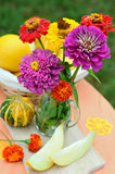 Still life with autumn flowers Royalty Free Stock Photography
