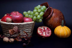 Still life with Autumn fruits Stock Photo