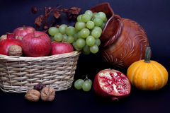 Still life with Autumn fruits Royalty Free Stock Photos