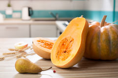 Still life with autumn fruits and pumpkin Royalty Free Stock Images