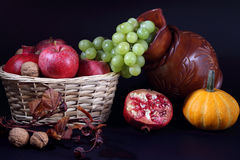 Still life with Autumn fruits Stock Images