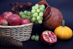 Still life with Autumn fruits Royalty Free Stock Photography