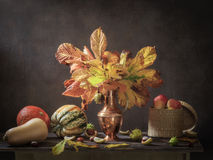 Still life of autumn and the harvest Stock Images