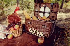 Still life of autumn picnic Stock Images