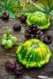 Still life with autumn squash Stock Photos