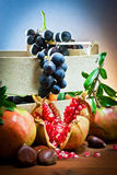 Still life of autumnal foods Stock Photos
