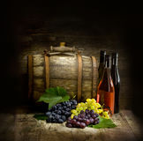 Still life with  barrel Royalty Free Stock Images