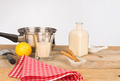 Rice pudding ingredients Stock Image