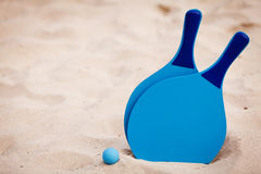 Still life beachball in summer on the beach vacation Royalty Free Stock Image