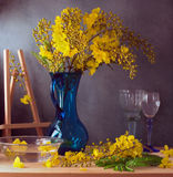 Still life with beautiful yellow flowers Stock Images