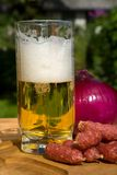 Still life with beer. And snacks Royalty Free Stock Photo