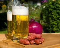 Still life with beer. And snacks Royalty Free Stock Photography