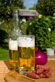 Still life with beer. And snacks Royalty Free Stock Photos