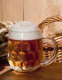 Still-life with beer. A still-life with beer and barley Stock Photos