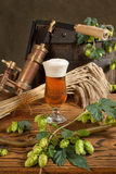 Still life with beer Stock Image