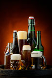 Still life with beer royalty free stock photography