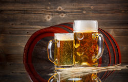 Still life of beer. Still life with a draft beer by the glass Stock Photo
