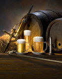 Still life with beer Royalty Free Stock Photo